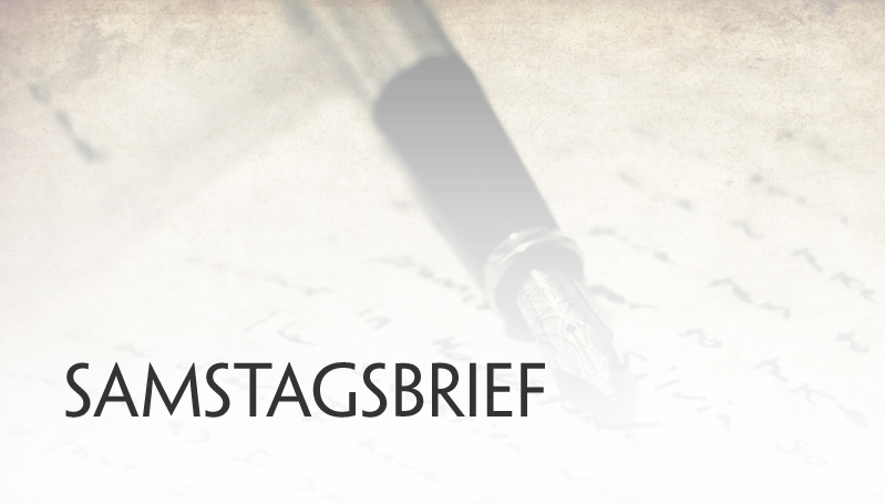 Samstagsbrief für den 21. April 2018