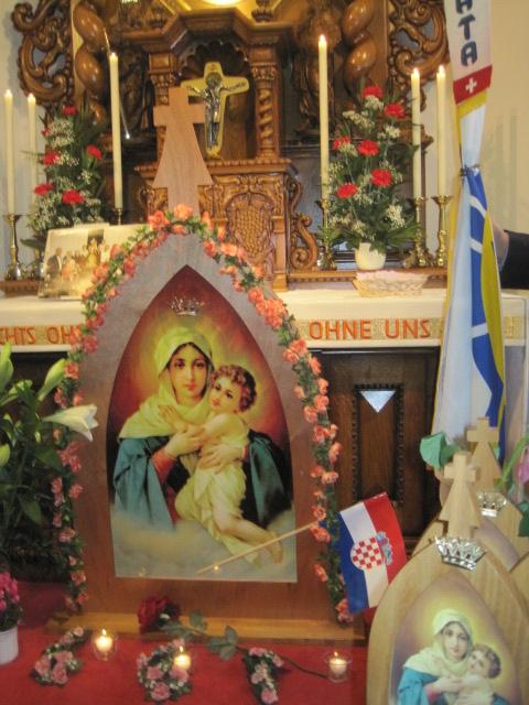 Pilgerheiligtumstreffen der kroatisch Sprechenden in Quarten
